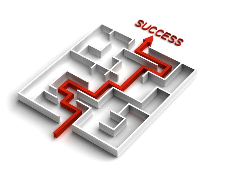 Illustration metaphor for success on a SKE course